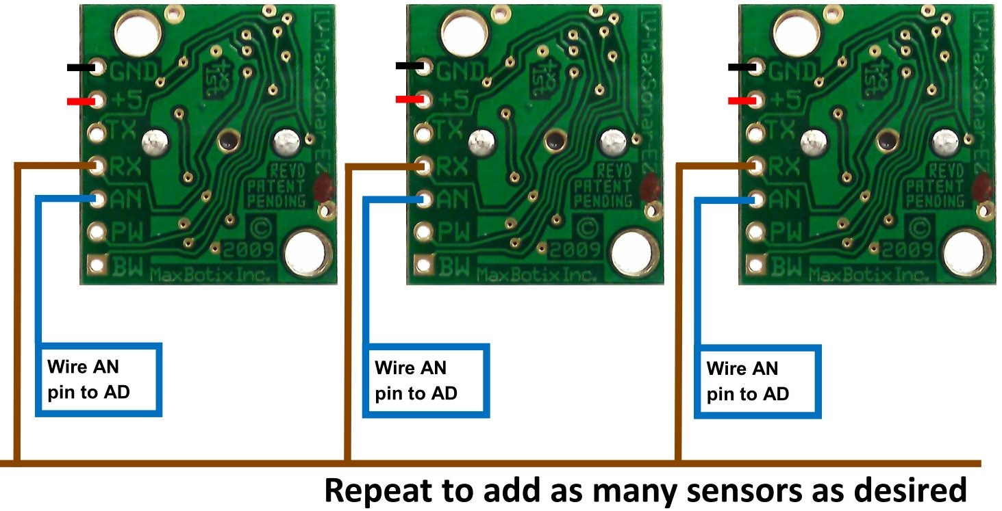 How To Use Multiple Ultrasonic Sensors Maxbotix Inc Sensor Circuit Figure 4