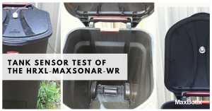 Tank Sensor Test of the HRXL‑MaxSonar‑WR