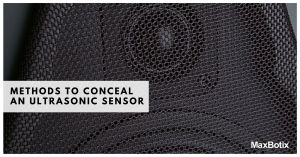 Methods to Conceal an Ultrasonic Sensor