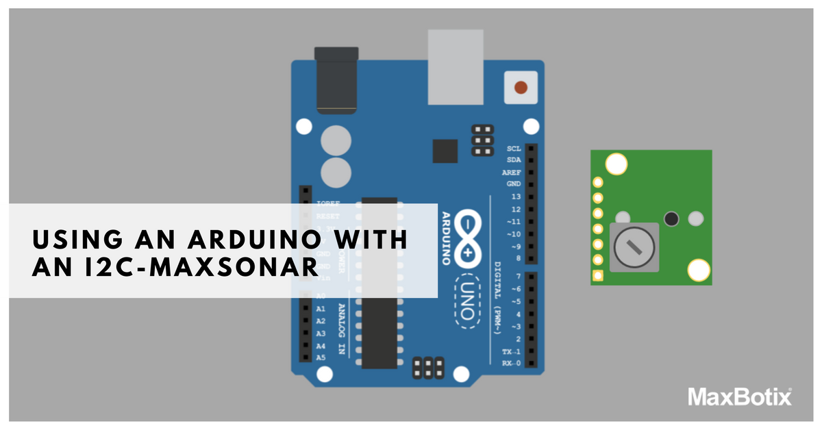 Using an I2C-Maxsonar with an arduino