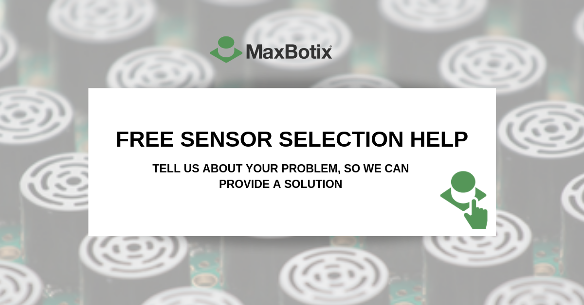 ultrasonic sensor selection help