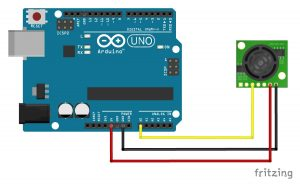 mb1240 ultrasonic sensor connected to an arduino